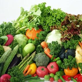 ortaggi e legumi freschi